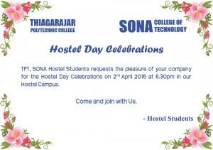 Hostel day Invitation
