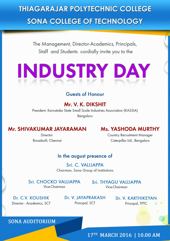 Industry day invitation