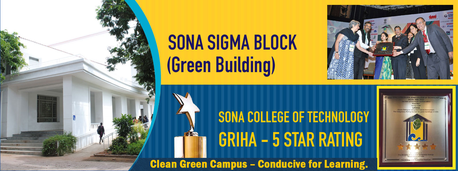 Griha 5 Star rated green building by Ministry of Renewable Energy
