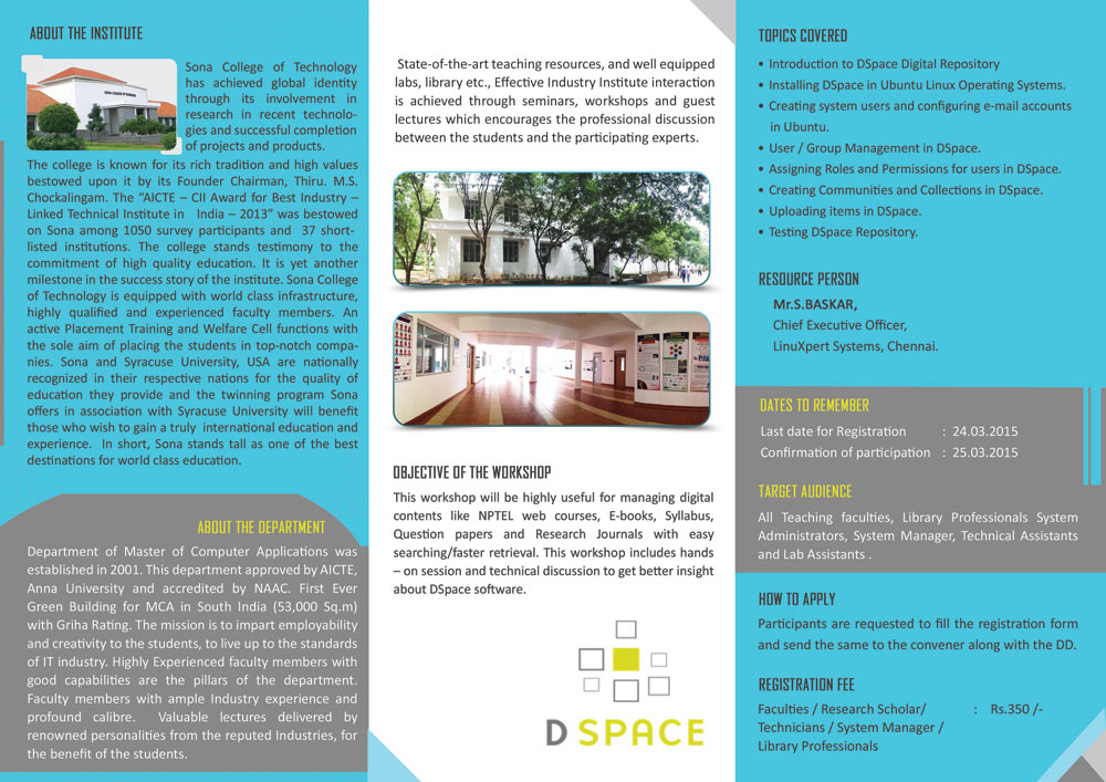 Dspace workshop