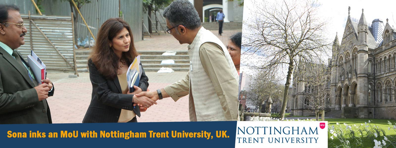 Sona inks an MoU with Nottingham Trent University,UK.