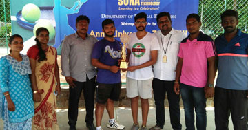 Sona's Tennis Team bagged the champions title