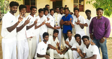 Trophy won by Sona Students in Cricket Tournments